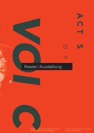 Reader / Ausstellung - Württembergischer Kunstverein Stuttgart