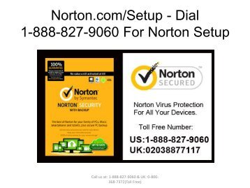 Norton.comSetup - Dial 1-888-827-9060 For Norton Setup