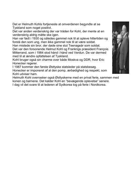 NEKROLOG Helmuth Kohl - Genforeningskansleren