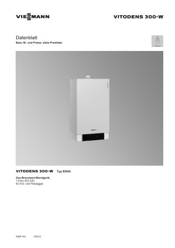 Vitodens 300 w serviceanleitung for Vitodens 300 w prix