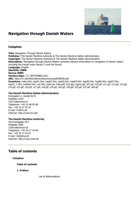 Navigation Through Danish Waters