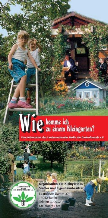 Faltblatt - Wie komme ich zu einem Kleingarten? - Bezirksverband ...