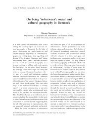 On being 'in-between': social and cultural geography in Denmark
