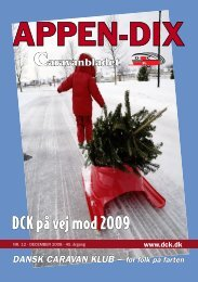 DCK på vej mod 2009 - Dansk Caravan Klub