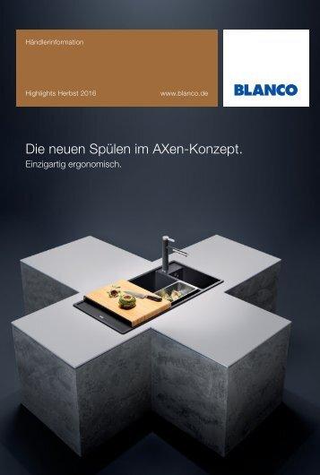 Blanco - Küchenspülen AXen-Konzept