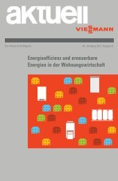 Energieeffizienz und erneuerbare Energien in der - Viessmann