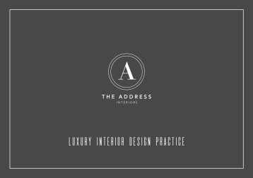 The Address Interiors - 2017 Brochure