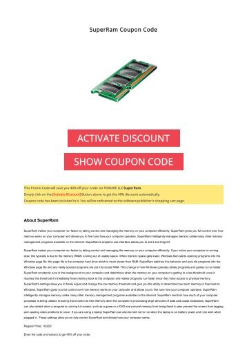 40% OFF SuperRam Coupon Code 2017 Discount OFFER