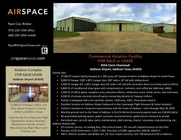 Hangar Complex For Sale or Lease (KADS) Flyer 2017