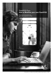 FlashPOD Pack How to Mobilise your own FlashPOD - Campusalam