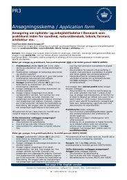 PR3 Ansøgningsskema / Application form - Ny i Danmark