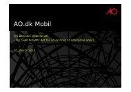 (Microsoft PowerPoint - Pr\346sentation af AO dk Mobil - enterprise ...
