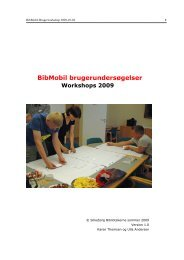 BibMobil brugerundersøgelser - Silkeborg Bibliotekerne