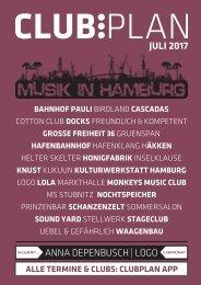Clubplan Hamburg - Juli 2017