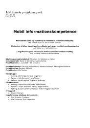Mobil informationskompetence - Bibliotek og Medier