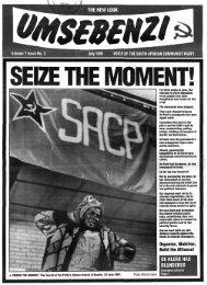 Organise, Mobilise, Build the Alliance! DE KLERK HAS ... - DISA