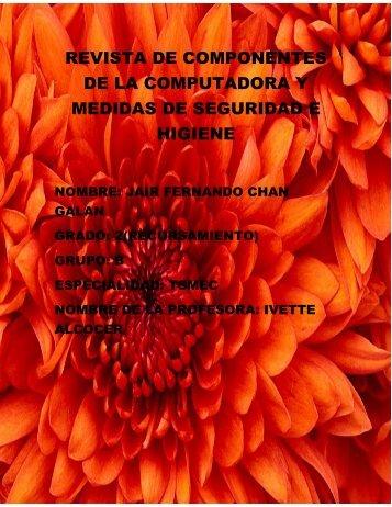 REVISTA DE COMPONENTES DE LA COMPUTADORA Y MEDIDAS DE SEGURIDAD E HIGIENE