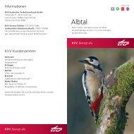 Broschüre Albtal - KVV - Karlsruher Verkehrsverbund