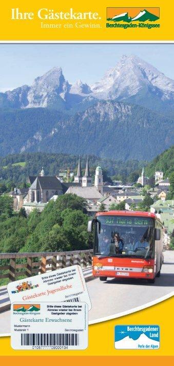 Ihre Gästekarte. - Berchtesgaden - Königssee