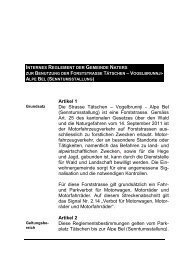 Reglement Benutzung Forststrasse Tätschen ... - Gemeinde Naters