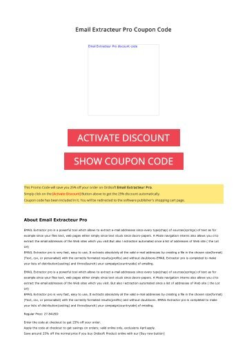 25% OFF Email Extracteur Pro Coupon Code 2017 Discount OFFER