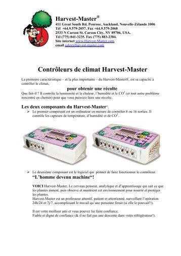 Contrôleurs de climat Harvest-Master - Ethnic World SA