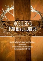How To Be Used By God To Mobilise 100% Of The Believers In Your ...