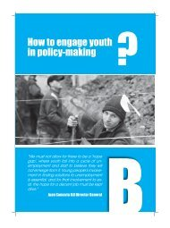 How to Engage Youth in Policy - International Labour Organization