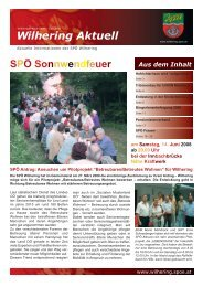 Wilhering Aktuell - SPÖ Oberösterreich