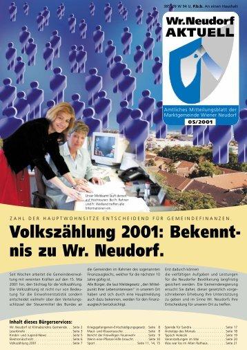 Volkszählung 2001: Bekennt- nis zu Wr. Neudorf. - RiSKommunal