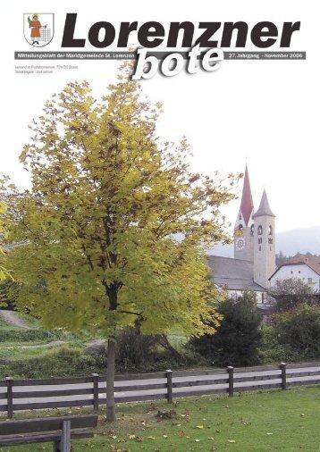 Lorenzner Bote - Ausgabe November 2006 (1,92 MB