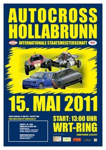1. autocross-staatsmeisterschaftslauf 14.–15. mai ... - WRT-Hollabrunn