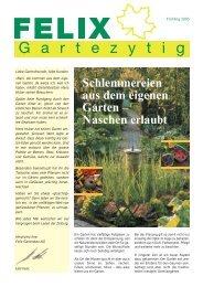 Schlemmereien aus dem eigenen Garten ... - Felix Gartenbau AG