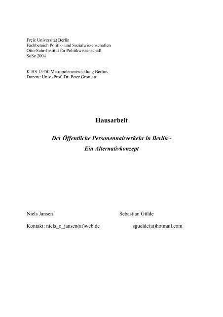 Ein Alternativkonzept - attac Marburg