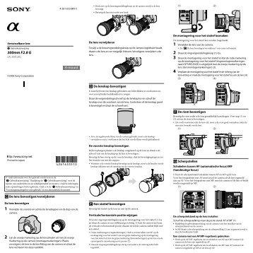 Sony SAL300F28G - SAL300F28G Consignes d'utilisation Néerlandais
