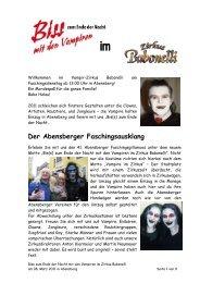 Der Abensberger Faschingsausklang