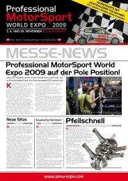 Professional MotorSport World Expo 2009 auf der Pole Position ...