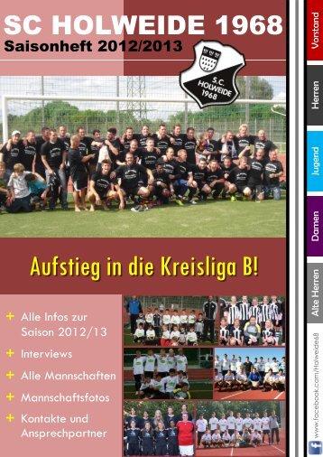A -Jugend K ader 2012/2013 - SC Holweide 1968 eV