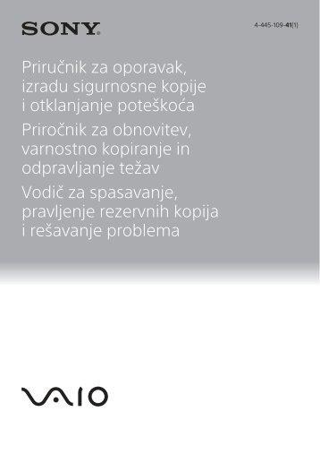 Sony SVE1512A4E - SVE1512A4E Guide de dépannage Slovénien