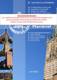 PFARRBRIEF Juni 2011 - Internet - St. Lambertus Erkelenz