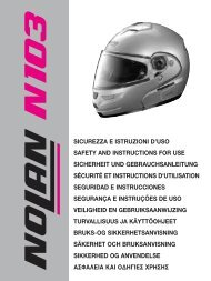 sicurezza e istruzioni d'uso safety and instructions for use ... - Nolan