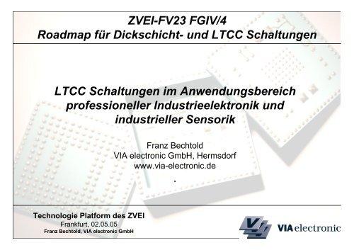 Technologie Roadmap für LTCC Schaltungen - VIA electronic