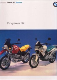 1994 BMW Press Release - Bmbikes.co.uk