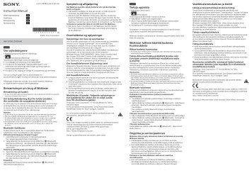 Sony NW-ZX100HN - NW-ZX100HN Mode d'emploi Norvégien