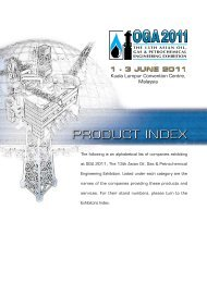 PRODUCT INDEX - Oil & Gas Asia