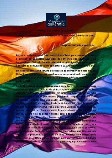 Resposta da parada LGBT