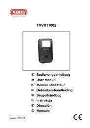 TVVR11002 User Manual - Abus
