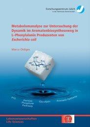 Metabolomanalyse zur Untersuchung der Dynamik im ...