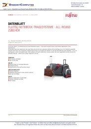 Datenblatt Fujitsu Notebook-tragesysteme - all ... - Diskontcomputer