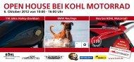 Open HOuse Bei KOHL MOTORRaD 6. Oktober 2012 von 10:00 - 16 ...